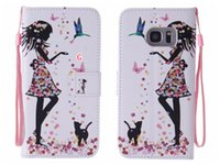 bear books - Tree Feather Butterfly Wallet Leather For Samsung Galaxy S7 Edge A310 A7100 Love Book Black Eye Bear Cartoon Flip Credit Stand Strap Pouch