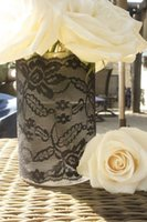 wedding vases - 2015 Wedding Supplies Vase Glasses Covers Lace Black Custom Party Decorations