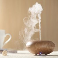 nebulizer ultrasonic - New Wood Grain Ultrasonic Air Humidifier Aroma Diffuser Aromatherapy Office Purifier Mist Maker difusor de aroma W Nebulizer