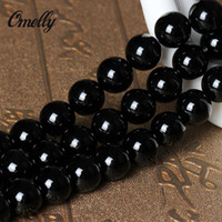 Wholesale 5A Grade Black Agate Natural Semi Precious Bead Jewelry Onyx Beads Gemstone Loose DIY Bead for Bracelet Necklace High Quality Loose Beads