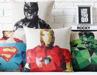 art craftsman - Diamond edition American hero Hulk iron bat super captain craftsman pillow decorative pillows euro case arts painting gift