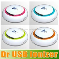 Wholesale New arrival high quality Dr USB Ionizer Colors Available Dr USB Air Purifier Ionizer removing odours smoke dust and pollen dhl