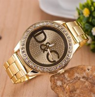 Wholesale Luxury Crystal Watches New Steel Watches For Mens Women Casual Gold Watch Diamond Wristwatch Ladies Dress Watches For Women Colors