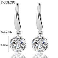 al por mayor anillo de plata de ley 925 reales-S925 anillo de plata esterlina sólido sólido 925 de plata esterlina de la boda de compromiso pendiente 2Ct princesa Cut creado joyería al por mayor de diamantes
