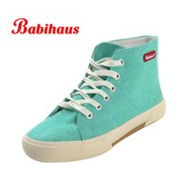 Ladies Candy Color Canvas Shoes Women Brand High Top Fashion Sneakers