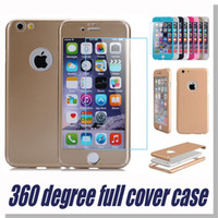 360 - Iphone case Screen protection degree protect case fashion case variety of colors case for iPhone Plus with retail package