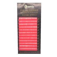 beautiful colored eyes - Eyemix Professional Eyelash Extension Cute Pink Colored Individual Eyelashes Beautiful Colorful False Eye Lash Freeshipping