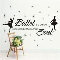 ballerina wall art - Ballet Dance Ballerinas Wall Decals Art Sticker Nursery Kids Girls Ballet Classroom Decoration Room Wall Stickers With Words
