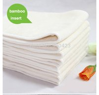 bamboo diaper fabric - 5pcs adult bamboo cloth diaper insert Booster liners nappy nappies bamboo