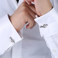 Wholesale High Quality K Gold Plated Brass Treble G Clef Musical Note Cufflinks Men s French Shirt Good Gift for Musician with Gift Box