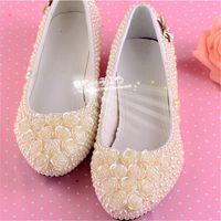 low heel wedding shoes ivory - new fashion handmade sweet ivory pearls low heel wedding shoes round toe bridal dress shoes beautiful girl single shoes