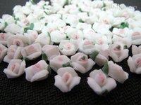 art ceramic - bag White Handmade mm Ceramic Rose Flower The Gel D Nail Art Tips Decoration Soft Ceramic Slice Flower