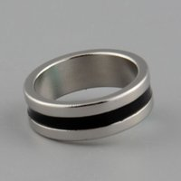 Wholesale Hot New Strong Magnetic Magic Ring Silver Black Finger Magician Trick Props Tool Inner Dia mm Size L