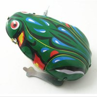 Wholesale 2015 Classic Tin Wind Up Clockwork Toys Jumping Frog Vintage Toy For Boys Children Adults Christmas Gift
