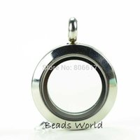 Cheap Wholesale Free Shipping 1 Pcs Stainless Steel Round Origami Owl Glass Living Memory Locket 20mm(W04007)