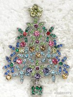 Other costume brooch jewelry - jewelry gift Multicolour Rhinestone Brooch Fashion Costume brand Brooches Crystal Christmas tree brooch C428 S4