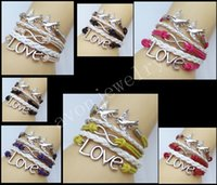 hitch - Summer selling antique silver accessories hitched love8 word infinite color rope multilayer woven bracelet romantic fashion accessories