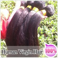 hair weft - 100 Virgin Hair Malaysian Bundles quot quot Mixed Lenght Straight Hair extensions a full head huaman hair weft