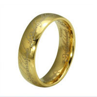 lord of the ring - Fashion The Lord of the Rings K gold plated ring Stainless Steel Mens Rings Jewerly Size size Mix sale