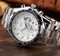 automatic mechanical watches for men - New Automatic Wrist Date Mechanical White Stainless Steel Case Men Watches Watch for Winner Brand