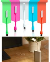 Wholesale Portable USB LED Light Bendable Mini Lamp USB Port Cell Phone Power Bank Partner for Computer PC Tablet Reading