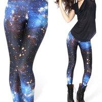 Cheap Fashion Workout Clothes For Women Sexy Fitness Sport Gym Pants Women Galaxy Printed Leggings Female Galaxy Punk Rock Pants