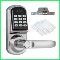 yes digital door lock - HOTSALE keyless electronic door lock digital password lock with IC card security door lock for apartment