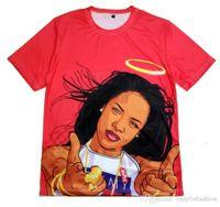babygirl clothing - Real USA SIZE Plus Size XL Aaliyah Babygirl D Sublimation print T shirt custom made clothing