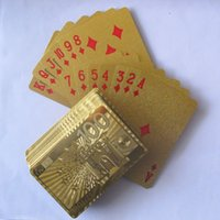 Wholesale Pieces Euro Style Retail Support Gold Plated Playing Cards No Pollutions Material Drop Shipping Support