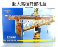 toy crane - Kaidiwei big size high quality alloy Engineering Vehicle model children toy cars tower crane
