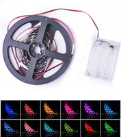 wired christmas ribbon - Sexy Strap on Led Strip Light RGB SMD Led Waterproof m meter m m led ribbon with Battery Box Christmas Gifts