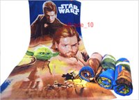 Wholesale 200 BBA5054 kids Star Wars bath Towels Star Wars printed cartoon beach Towels star wars swim Towels cotton cm towels Christmas Gifts
