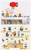 Wholesale new arrive designs cartoon Zootopia wall stickers D wallpapers wall decals children removable PVC wallpaper baby room D602