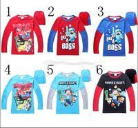 Wholesale NEW Minecraft For Big Boys Tshirts Long Sleeve Cute Cartoon Cotton Tees Kids T Shirt Childs Children XFGV6UY