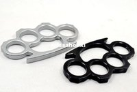 Wholesale Thin Steel Brass knuckle dusters Self Defense Personal Security Camping tool Pendant