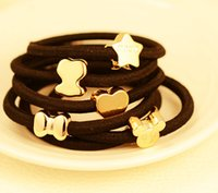 Wholesale Hair Ring Headwear Hair Band Hair Rope Rubber Band Fashion Accessories Crowne Bowknot Cat mix order usd