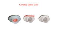 Cheap Full Ceramic Donut Coil for dry herb gpen Vaporizer herbal vaporizers pen Wax dry herb atomizer Elips pen Battery e cigarette