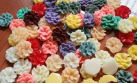 16mm flower beads - 100pcs Mixed colors mm Colors Flatback Resin Flower Beads Wavy For Jewelry Mobile iPhone Decoration Resin Pendants