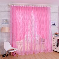Wholesale Hot Flower Print Floral Voile Window Curtain Panel Home Door Bedroom Divide Screen Decoration