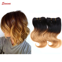Wholesale Fashionable Queen Funmi Hair Wefts Brazilian Hair Body Wave Extensions Ombre Color Human Hair Inch