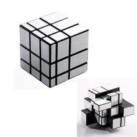 Wholesale 3x3x3 Mirror Blocks Silver Shiny Magic Cube Puzzle Brain Teaser IQ Kid Funny pc FZ688 New Hot Sale