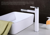 Wholesale Cloud Power Chrome plated brass and White Bathroom Basin Faucets Single Copper Bath Centerset Sink Taps