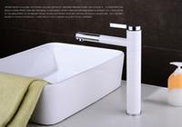 bath taps sale - CLOUD POWER White Bathroom Basin Faucets With Single Hole Brass Bath Centerset Sink Taps For Sale