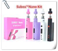 Wholesale 1pcs Kanger Subox Nano Starter Kit vv vw kbox nano box mod and subtank nano v2 vs Kanger Subox Mini