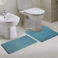 bath rug set blue - 2Pcs Set Coral Fleece Floor Mats Bathroom Ground Bath Mat For Toilet Set Twinset Anti slip House Door Doormat Kitchen Area Rugs