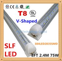 Wholesale 15pcs V Shaped T8 Led Tube FT M mm W lm LED2835SMD Integrated Cooler Door Led tube light Fluorescent Double Glow lighting