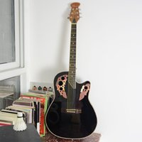 Wholesale Black blue sun natural Round Electric acoustic guitar guitarra musical instrument