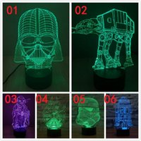 Wholesale 5pcs styles Star wars The Force Awakens Night Lights color LED touch switch table lamp