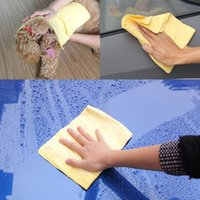 Wholesale 43cm cm Chamois Car Wash Towel Dry Hair Towel Cleaning Sponge Cloth