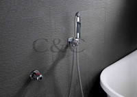 Wholesale Multifunctional Thermostatic Shattaf Bidet Sprayer Wall Mounted Chrome Portable Shower Cleaner A1301D